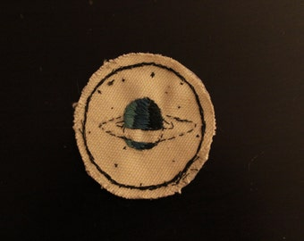 embroidered planet iron-on patch