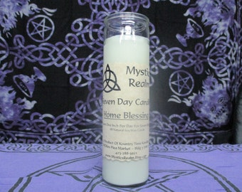 Home Blessing Candle ~ 7 Day Spell Candle ~ Home Blessing Spell Candle ~ Soy Wax Candle ~ Ritual Candle ~ Spell Candle ~ Witchcraft Supplies