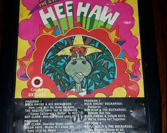 Rare Hee Haw Eight Track / Vintage / The Stars of Hee Haw / 8 Track / Comedy / Music / Classic / Special / Collectible / Collectors