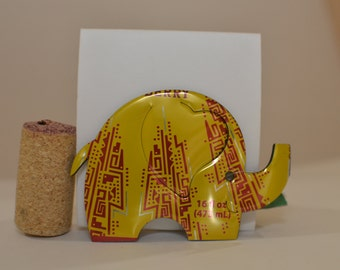 Elephant Magnet made from Guayaki Brand Yerba Mate --Revel Berry can