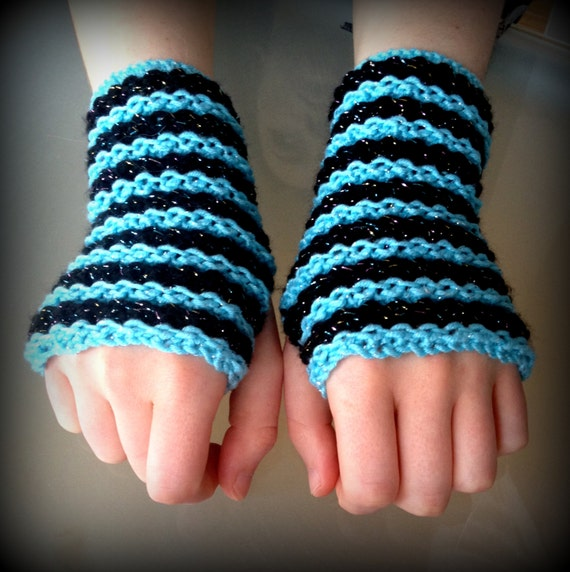 Knitting Pattern Fingerless Gloves on Straight Needles ...