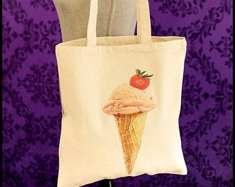 Ice Cream Cone Tote Handbag, Ice Cream Tote, Summer Tote