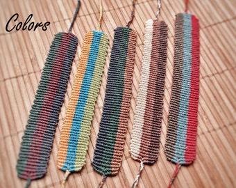 Tricolors Bracelet Macrame - Five Colors to Choose - Handmade Adjustable