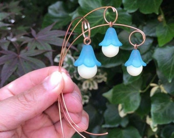 Create your own shape - 3 x Enchanting Pixie Wood Glow In The Dark Copper Faery Garden Lanterns