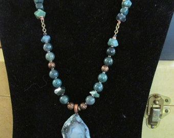Green Agate Necklace SALE