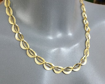 Chain Americans hard gold plated necklace old MK124