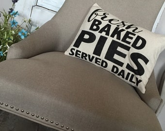 Fresh Baked Pies Frarmhouse Pillow Cover