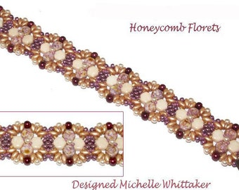 Honeycomb Florets Bracelet Tutorial PDF