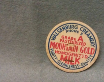 Walsenburg Creamery Mountain Gold  Homogenized Milk Bottle Cap Walsenburg Colorado