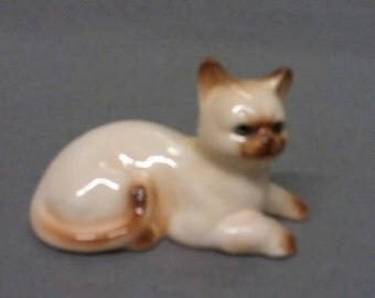 Siamese Look Cat with Blue Eyes Cat Figurine