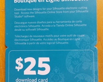 Silhouette Online Store Download Card