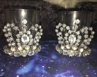 1 pair of royal votive holders