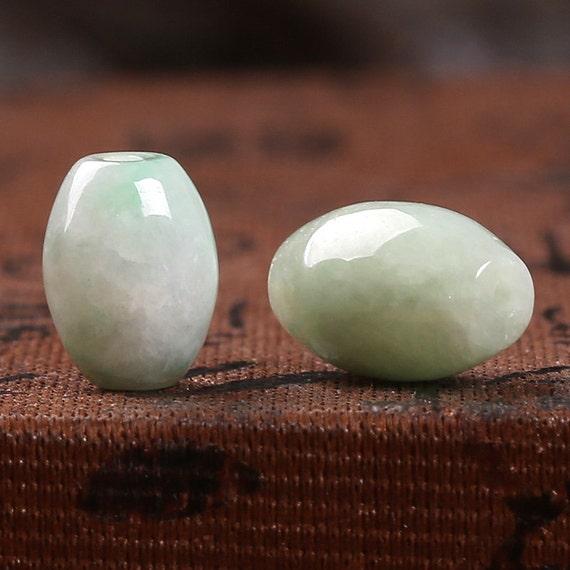 Genuine Jade Beads: Natural Jade Beads A Rated Genuine Nephrite Jade Oval Bead