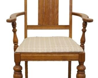 1920's Antique Gothic Revival Jacobean Dining Arm Chair