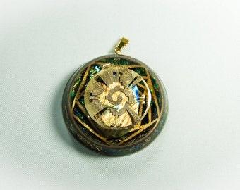 Sacred geometry for hunab ku 22 k gold labradorite 528Hz activated