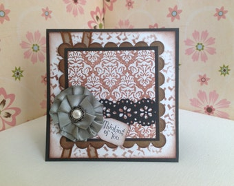 Handmade Thinking of you card, Inspirational cards