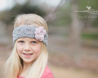 Crochet Headband, Crochet Lace Headband, Spring Headband, Flower Headband, Lace Headband, Newborn Headband, Baby Headband, Adult Headband