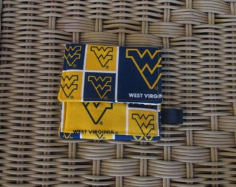 West Virginia Mountaineers  Credit Card Holder/Checkbook Cover New Made in USA