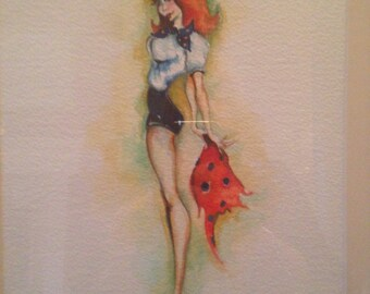 Limited edition vintage pin up girl prints