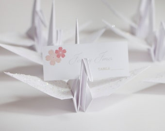 Wedding Place Card Holders, Origami Cranes, Origami Wedding, Origami Crane Place Card Holders, Escort cards, Wedding Decor