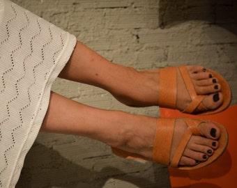 Double stripe X Sandals,Handmade Leather Sandals, Summer Flats, Women Shoes, Leather Flats, Greek Sandals