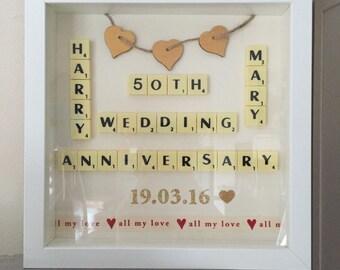 Golden wedding anniversary personalised