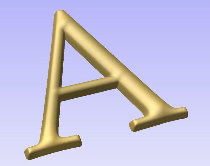 Stl 3d models of NUMBERS and LETTERS for cnc carving vectric aspire cut3d artcam 3d printer