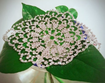 On Promotion-Bling Bling Flower hair decoration/headband/headpieces/Bridal/wedding accessories/bracelet