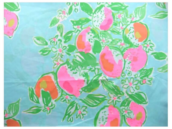 lilly pulitzer fabric lemonade cotton poplin