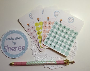 Date / Number Planner, Penpal and Journalling Stickers