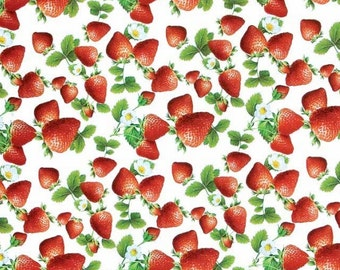 Oilcloth table cloth by the metre strawberries summer C145221