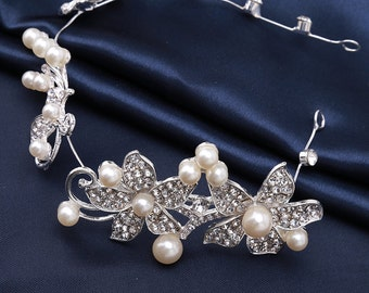 Bridal Hair Comb, Wedding Hair Comb, Pearl and Crystal Hair Comb, Wedding Hair Accessories, Bridal Headpiece, Wedding Hair Pin