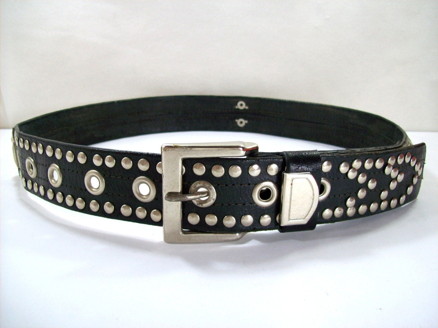 motorcycle rock leather belt leather belt bikers