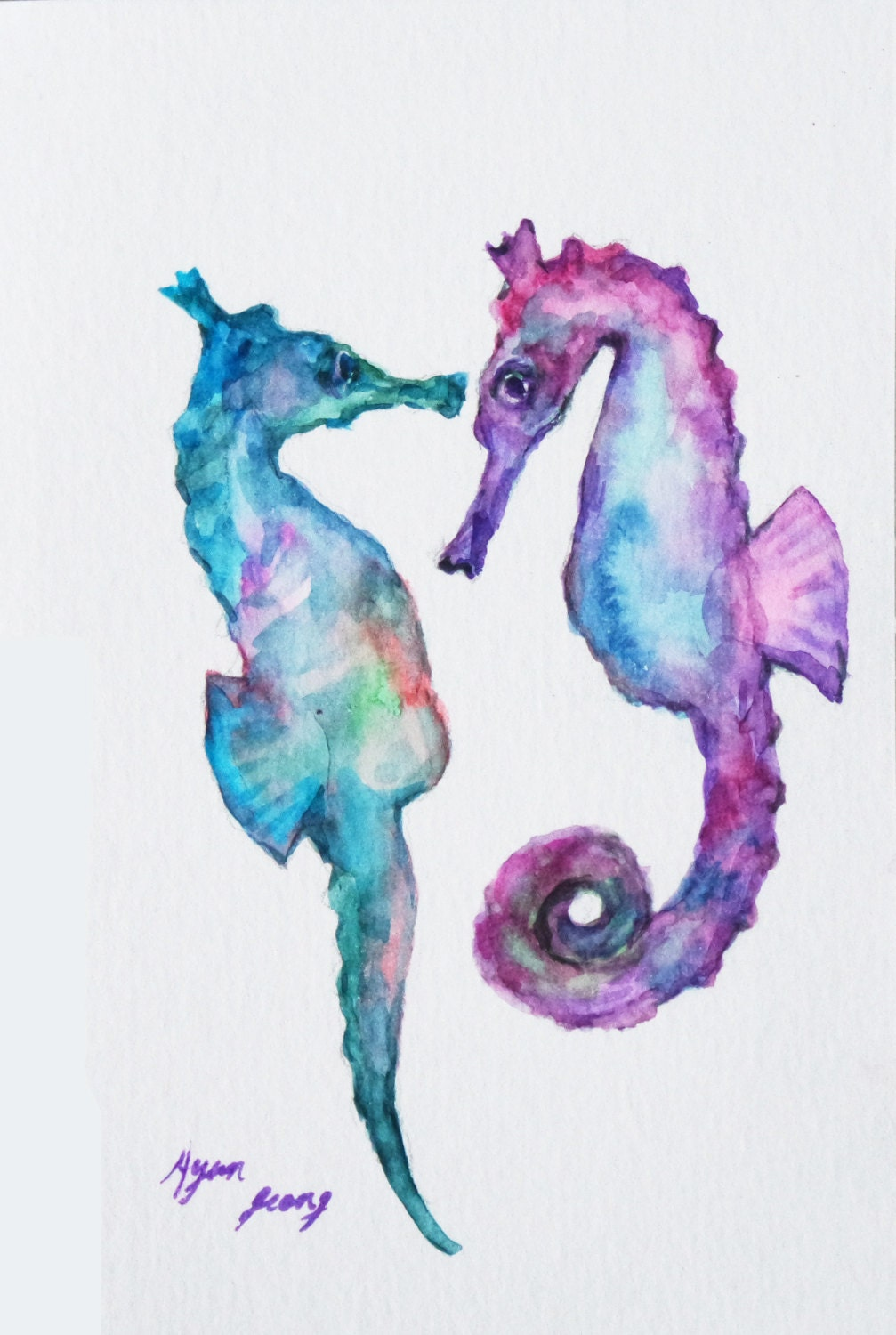 Watercolor Sea Animals at PaintingValley.com | Explore ...