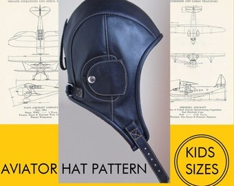 kids sizes aviator hat pattern