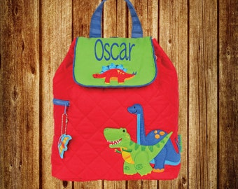 Personalized Stephen Joseph Quilted Backpack- Dinosaur