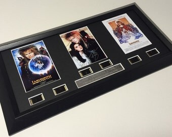 Labyrinth signed David Bowie filmcell Limited Edition number 39/500