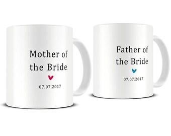 Wedding Mug Set - Mother of the Bride Gift - Mother of the Bride Mug Set - Father of the Bride Gift - Wedding Mugs - Wedding Gift - MG523