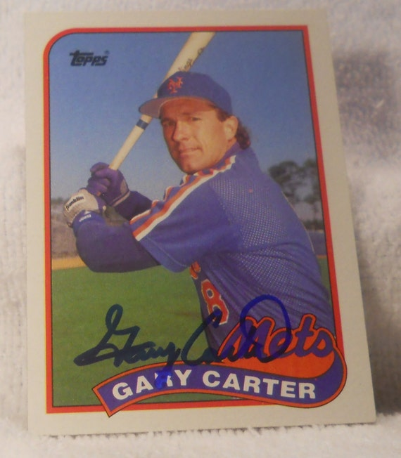 Sale gary carter mets autographed card by rjandbjcollectibles for Gary carter vet