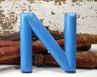 Vintage Letter N Z, Old Store Sign Letter, Marque, Vintage Typography