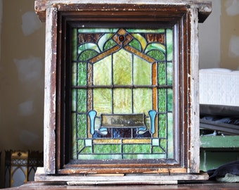 Early 1900s Antique Stain Glass Window