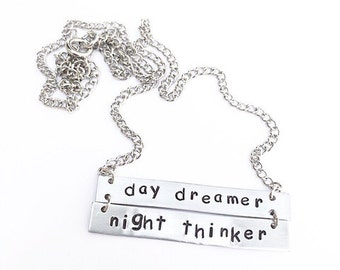 day dreamer night thinker necklace