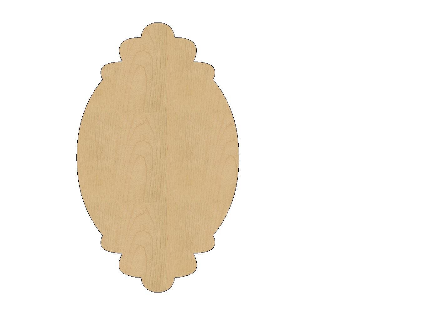 Oval Frame Cutout Shape Laser Cut Unfinished Wood Shapes