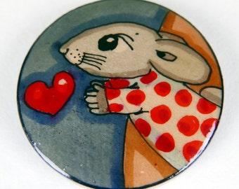 Rabbit Brooch,Rabbit gift,Gift for teen girls,Valentine Gift for Her,Gift for girls,Stocking Filler for her,Christmas Gift,Birthday gift,