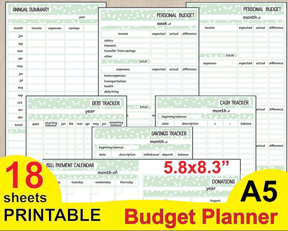 printable budget calendar