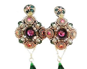 Unique pair of handmade earrings