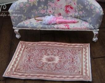 Dollhouse rug 14 x 10cms Dollhouse miniature 1:12