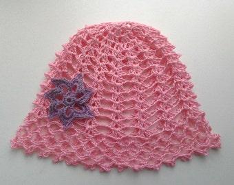 Baby summer linen cap