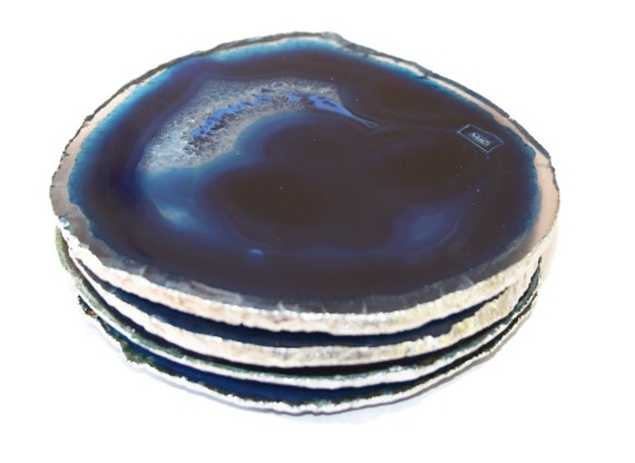 Agate Coasters Agate Stone Coasters Drink Coasters By Energypeace