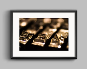 Typewriter Letters 10, Macro Photography, Remington Ten Forty, Photoprint